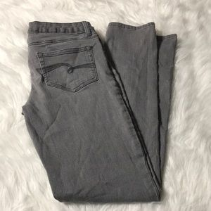 Justice Girls gray jeans size 16 super skinny